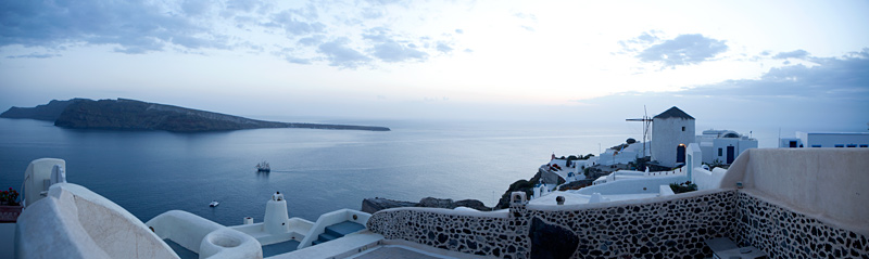 greek island panorama photo